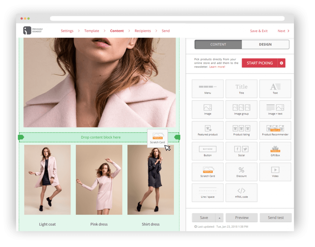 Mailchimp for Shopify Omnisend's drag-and-drop email builder makes it easier to create and edit abandoned cart emails