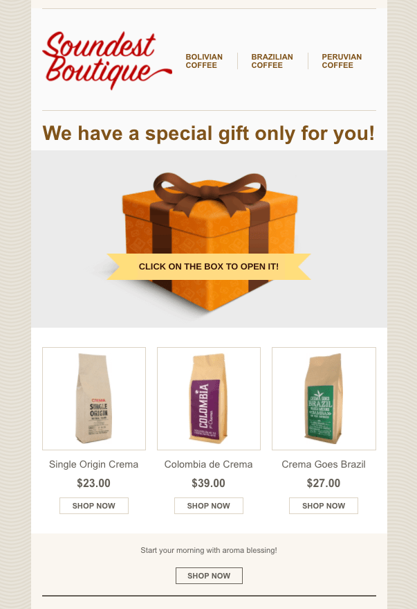 soundest-gift-box-interactive-email