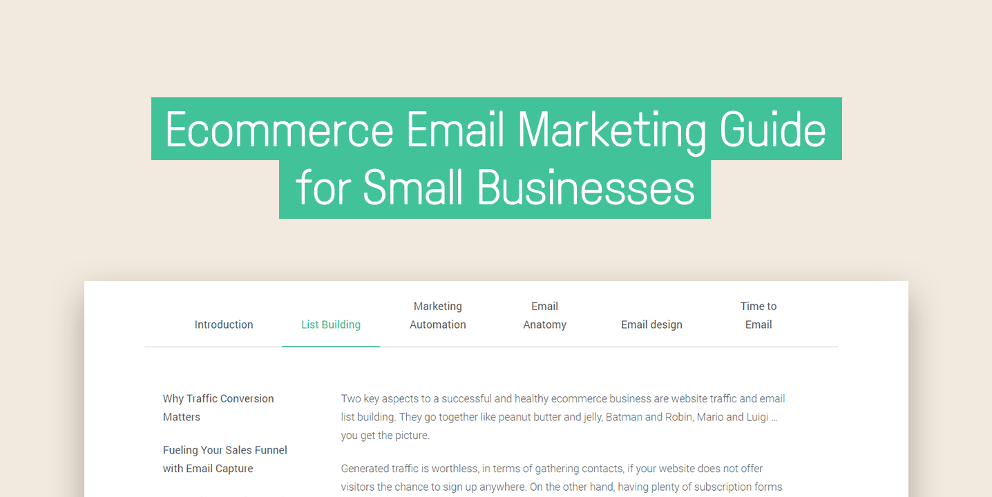 Ecommerce Email Marketing Guide