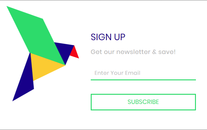 New Omnisend signup form: Hummingbird