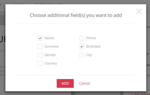 With our landing pages options, you can add as many forms as you'd like to get more info about your subscribers