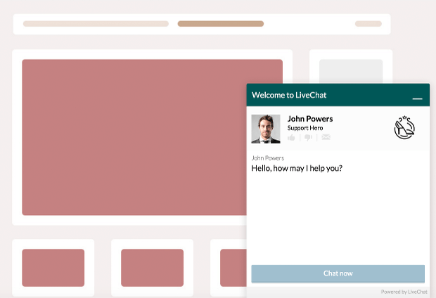 Here's an example of a popup live chat from LiveChat