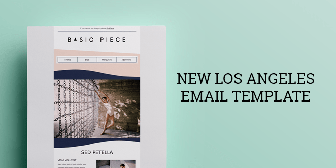 Omnisend is proud to present its new email template - Los Angeles