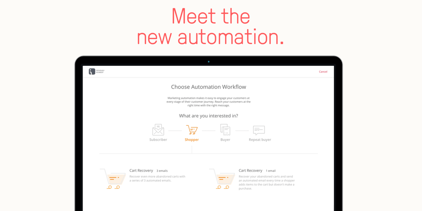 Try Omnisend's brand new, updated, flexible and powerful email marketing automation workflows