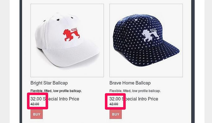 You can use price anchoring by showing the previous bigger price and the new smaller price