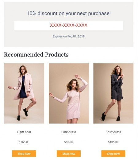 Use our new Product Recommender along with discount offers to increase sales