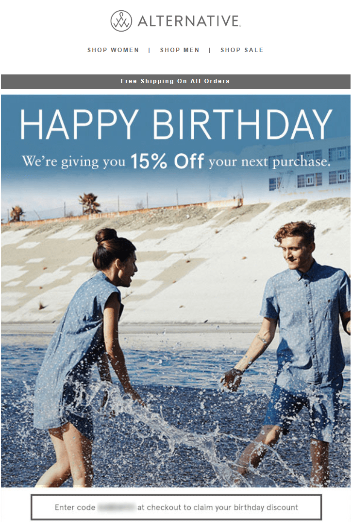 birthday discount