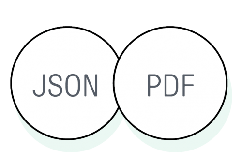 Omnisend's ecommerce marketers can export customer data in either JSON or PDF