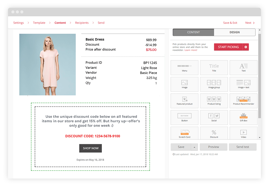 Use the order confirmation as a chance to get repeat purchases