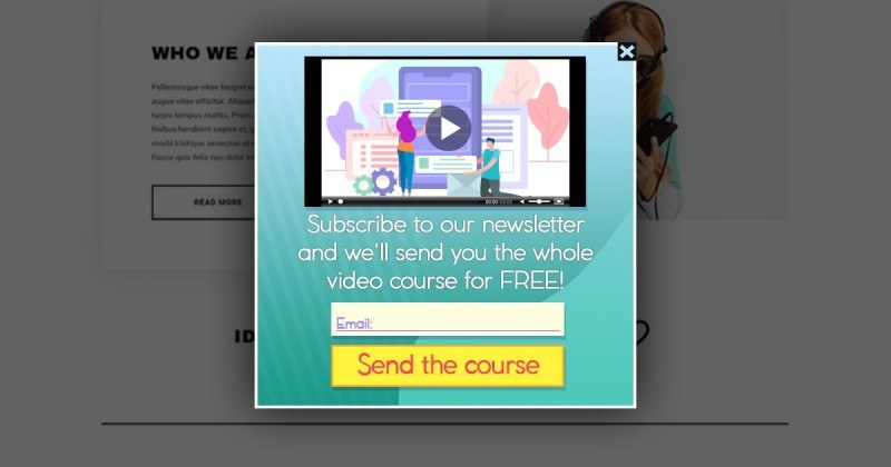 Video Courses in Popups