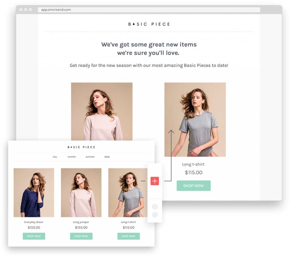 Mailchimp for Shopify: Omnisend's Product Picker