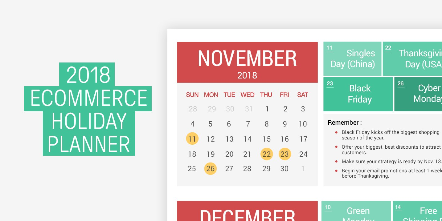 How to set your ecommerce holiday plan for 2018 (infographic)