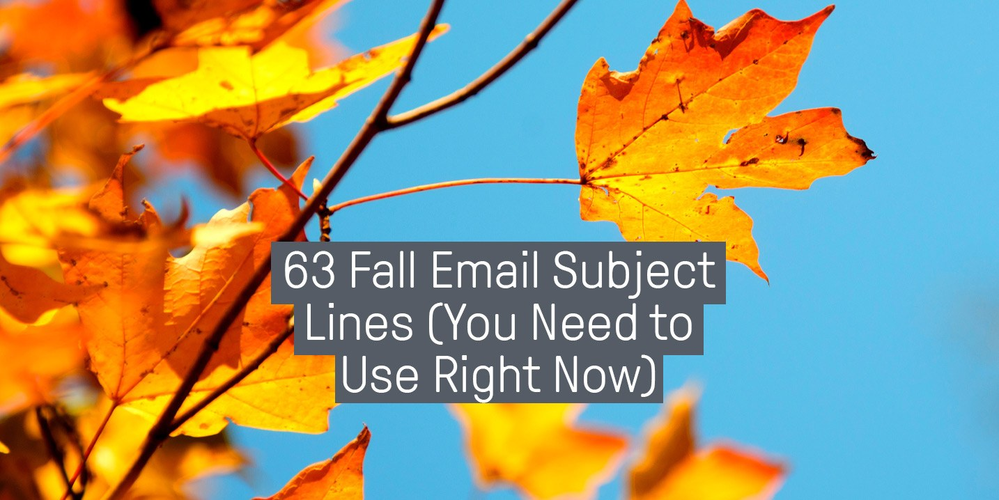The 63 Best Fall Email Subject Lines (Backed by Research)