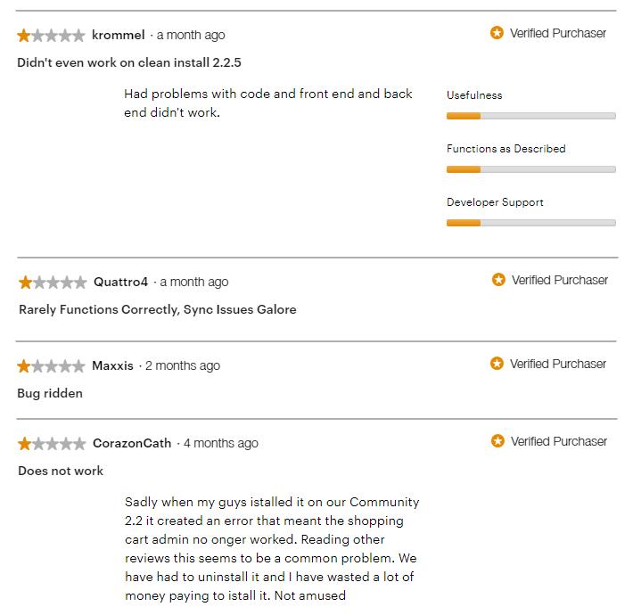 MailChimp reviews on Magento