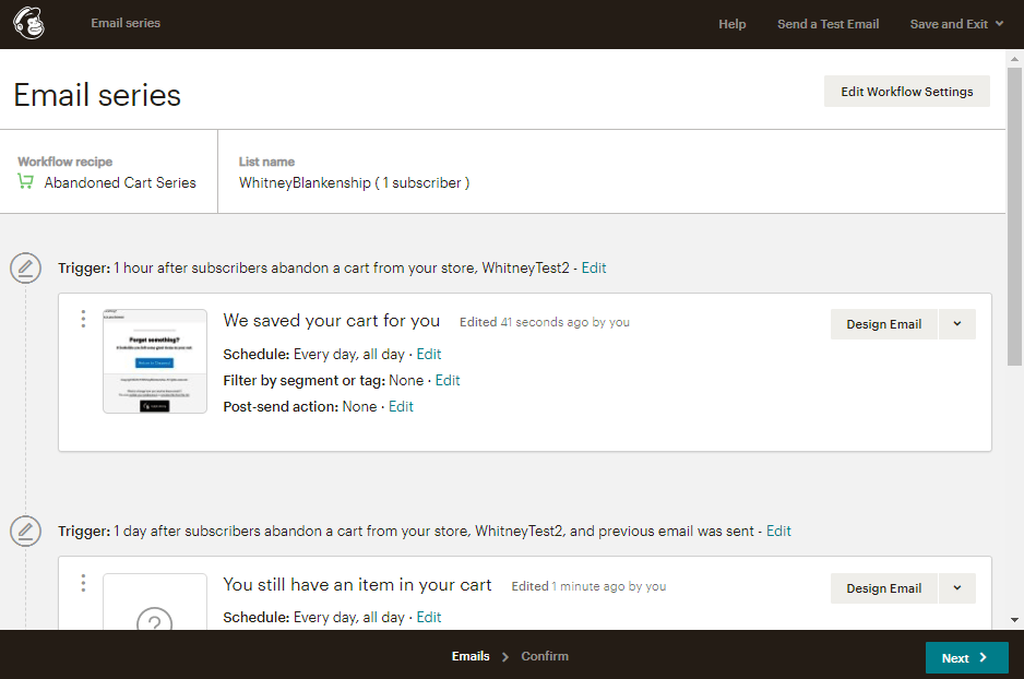 MailChimp workflow klaviyo alternatives