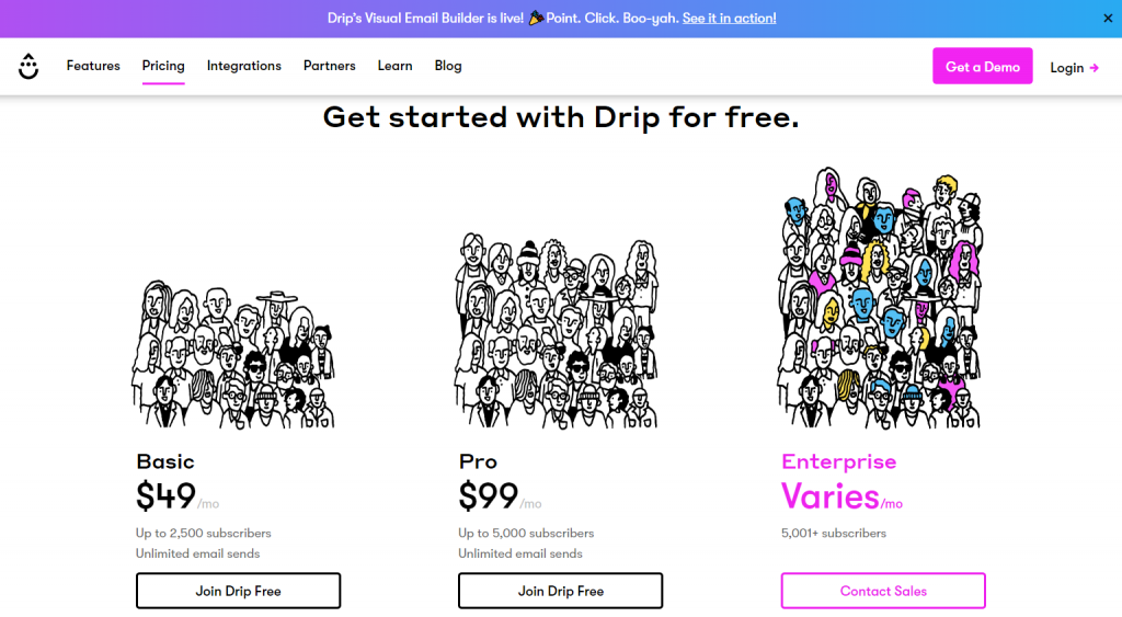 drip pricing klaviyo alternatives