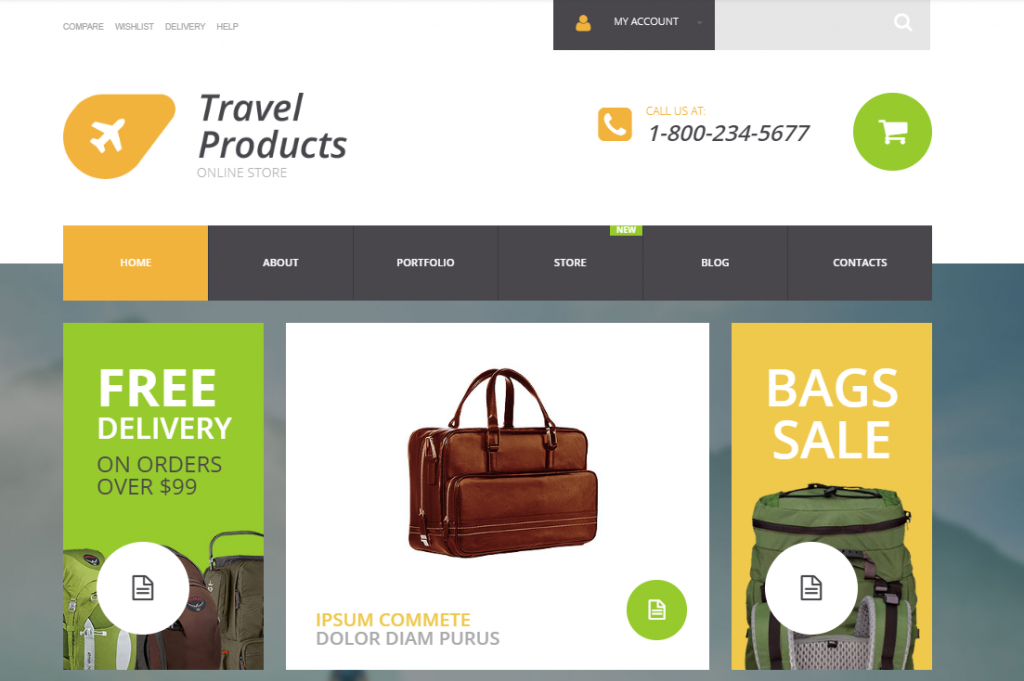 woocommerce theme travel products