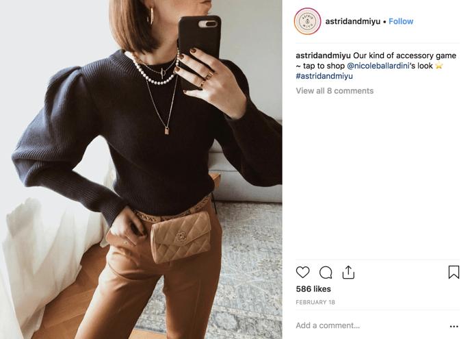 customer loyalty astrid and miyu social post
