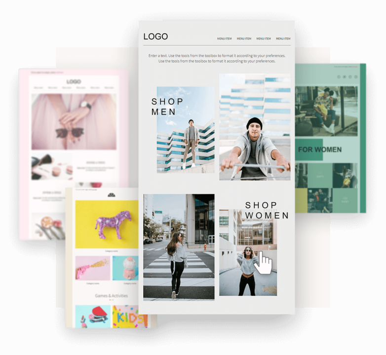 Omnisend email templates for email campaigns