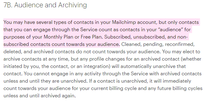 mailchimp audience definition