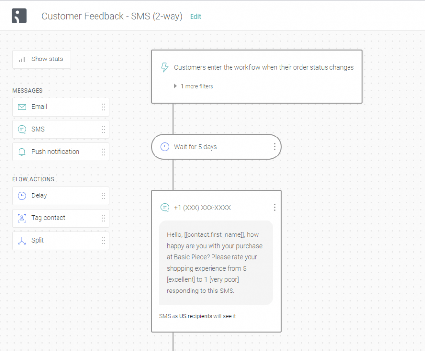 two-way SMS — customer feedback
