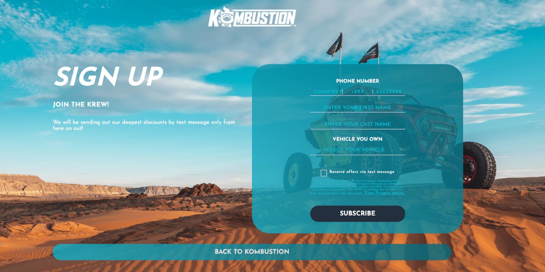 Kombustion Landing Page