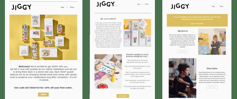 brand story jiggy puzzle