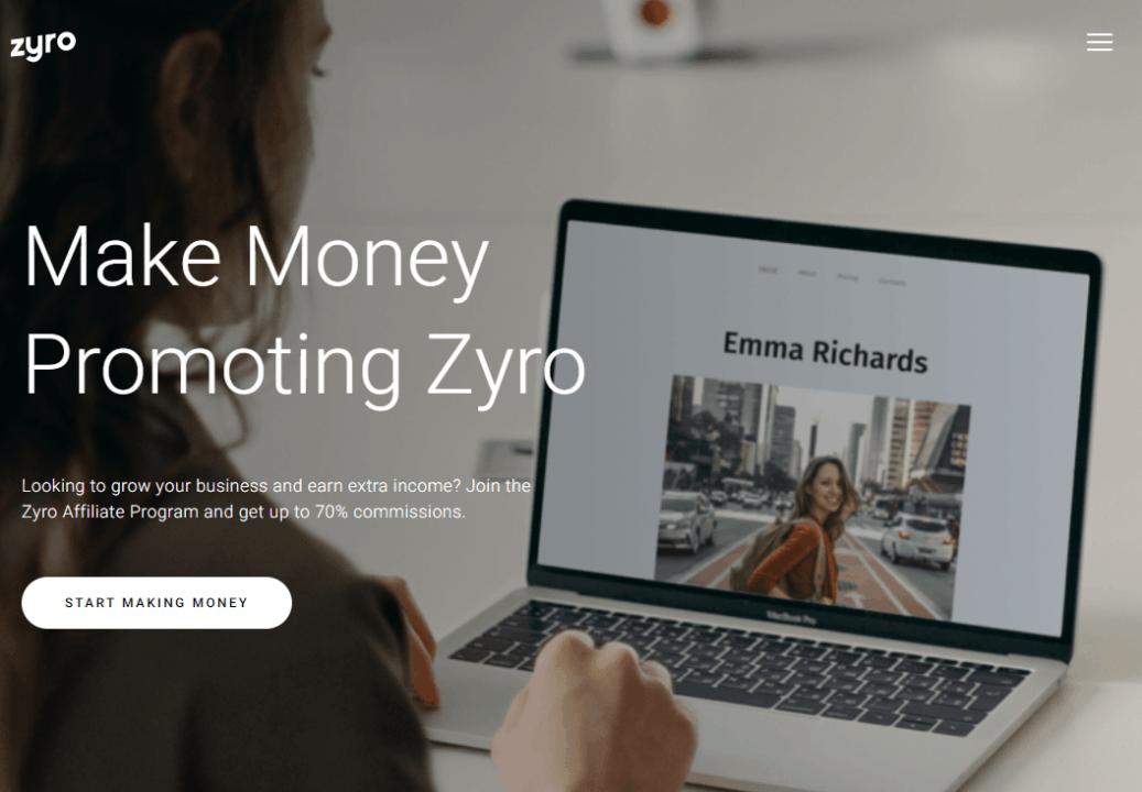 zyro saas affiliate program