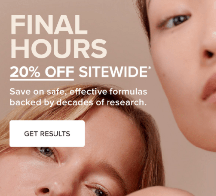 paulaschoice.co.uk limited time offer example